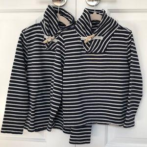 Crewcuts Matching Stripe Navy Sweaters 4/5  + 6/7